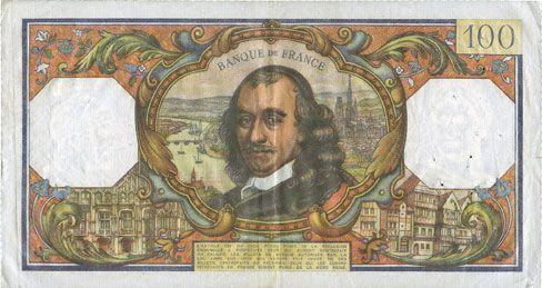 Banknoten Banque de France. Billet. 100 francs, Corneille, 3.12.1964