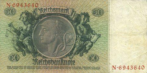 Banknoten Allemagne. Billet. 50 reichsmark 30.3.1933, série M/N