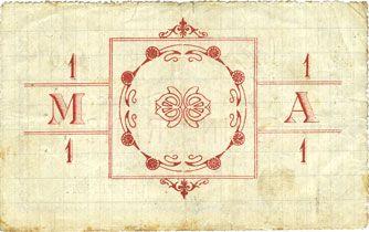 Banknoten Montigny-en-Arrouaise (02). Commune. Billet. 1 franc 8.8.1915