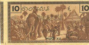 Banknotes Indochine. Billet. 10 cents (1939). Gouvernement général