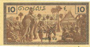 Banknotes Indochine. Billet. 10 cents (1939), Gouvernement général