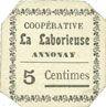 Banknotes Annonay (07). Coopérative La Laborieuse. Billet. 5 cmes