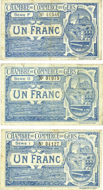 Banknotes french emergency notes auch 32 chambre de for Chambre de commerce et