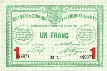 Superbe Banknotes Boulogne Sur Mer (62). Chambre De Commerce. Billet. Inspirations De Conception