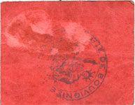 Banknotes Bouvignies (59). Commune. Bon de 5 centimes