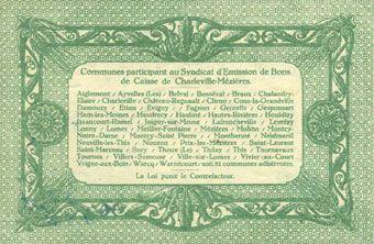 Banknotes Charleville et Mézières (08). Syndicat d'Emission de  Bons de Caisse. 10 francs 11.3.1916, série F