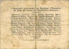 Banknotes Charleville et Mézières (08). Syndicat d'Emission de  Bons de Caisse. 2 francs 11.3.1916, série E