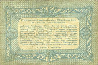 Banknotes Charleville et Mézières (08). Syndicat d'Emission de  Bons de Caisse. 20 francs 11.3.1916, série B