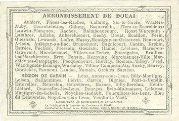Banknotes Douai et Région de Carvin (59). Billet. 50 francs 22.5.1916, 7e série G