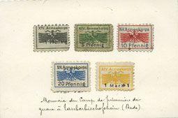 Banknotes Allemagne. Karlsruhe. XIV. Armeekorps. Scheckmarken. Billets. 1, 5, 10, 20 pf, 1 mark n.d.