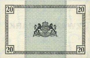 Banknotes Allemagne. Königsbrück. Kriegsgefangenenlager - Truppenplatz Königsbrück. Billet. 20 mark 1.12.1917