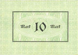Banknotes Cologne-Riehl. Restaurant Zoologischer Garten. Billet. 10 mark