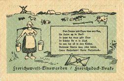 Banknotes Einswarden. Frerichswerft. Billet. 50 pf janvier 1921. R/: Die Deerns...