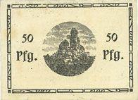 Banknotes Erbendorf. Ponnath J.. Billet. 50 pfennig