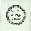 Banknotes Erfurt. A. Stenger. Buchdruckerei. Billet. 2 pf (1920)