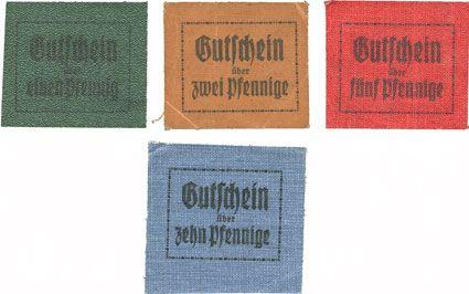 Banknotes Erfurt. Buchdruckerei. Georg Richter. Billets. 1, 2, 5, 10 pf (1920)
