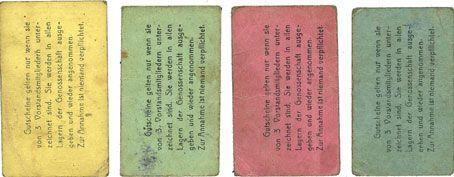 Banknotes Erfurt. Waren-Einkaufs Abt. des Thüringischen Beamtenvereins. Billets. 1, 2, 5, 10 pf