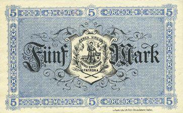 Banknotes Erlelenz. Kreis. Billet. 5 mark 12.11.1918