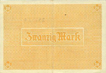 Banknotes Friedberg. Stadt. Billet. 20 mark 18.11.1918