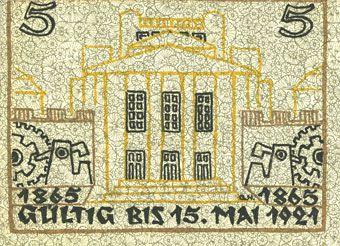 Banknotes Kattowitz (Katowice, Pologne). Stadt. Billet. 5 mark 16.3.1921