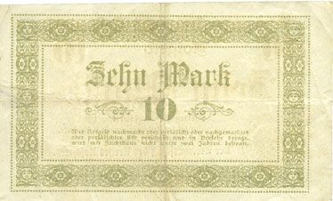 Banknotes Koschmin (Kozmin, Pologne). Kreis. Billet. 10 mark 1.11.1918