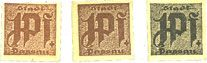 Banknotes Passau, Stadt, billets, 1 pf (3 variantes) n. d. Carton brunâtre