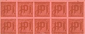 Banknotes Passau, Stadt, billets, 10 x 1 pf n. d. Carton rosé, épais