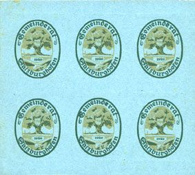 Banknotes Salzburghofen, Gemeinde, billets, 6 x 20 pf 1920