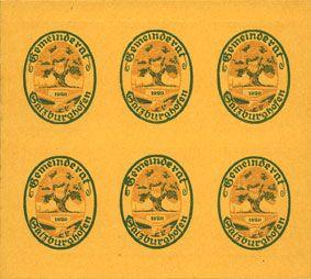 Banknotes Salzburghofen, Gemeinde, billets, 6 x 5 pf 1920