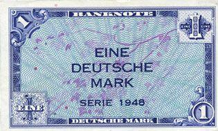 Banknotes Allemagne. Bank Deutscher Länder. Billet. 1 mark 1948