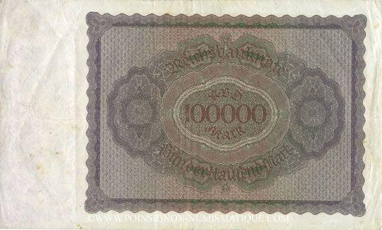 Banknotes Allemagne. Billet. 100 000 mark 1.2.1923. Série S