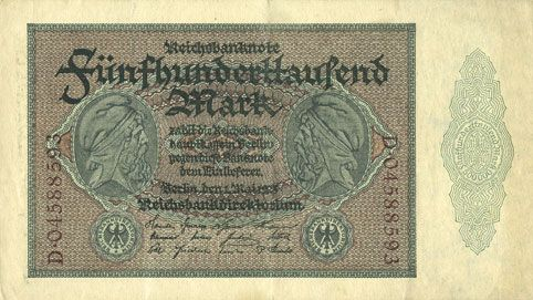 Banknotes Allemagne. Billet. 500 000 mark 1.5.1923. Série D