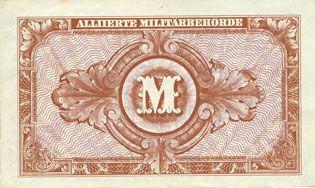 Banknotes Allemagne, sous occupation des forces alliées. Billet. 10 mark 1944