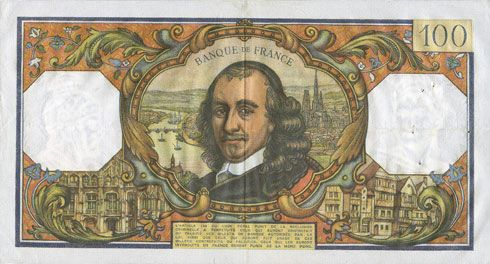 Banknotes Banque de France. Billet. 100 francs, Corneille, 1.9.1966