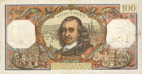 Banknotes Banque de France. Billet. 100 francs, Corneille, 2.1.1976