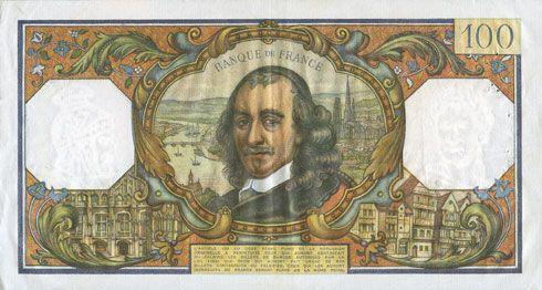 Banknotes Banque de France. Billet. 100 francs, Corneille, 2.2.1967