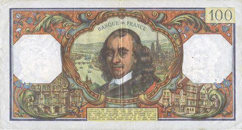 Banknotes Banque de France. Billet. 100 francs, Corneille, 2.2.1978