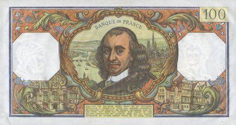 Banknotes Banque de France. Billet. 100 francs, Corneille, 2.6.1977