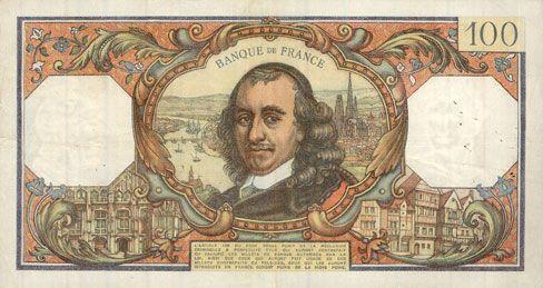 Banknotes Banque de France. Billet. 100 francs, Corneille, 3.6.1976