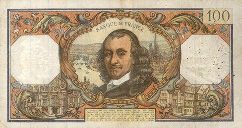 Banknotes Banque de France. Billet. 100 francs, Corneille, 5.10.1972