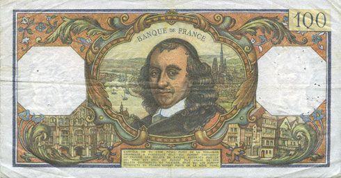 Banknotes Banque de France. Billet. 100 francs, Corneille, 6.2.1975