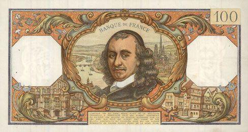 Banknotes Banque de France. Billet. 100 francs, Corneille, 6.4.1967