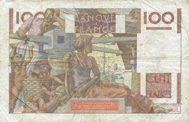 Banknotes Banque de France. Billet. 100 francs jeune paysan, 12.10.1950