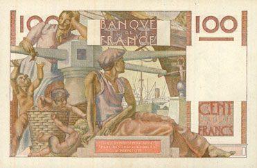 Banknotes Banque de France. Billet. 100 francs jeune paysan, 16.11.1950
