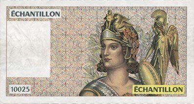 Banknotes Billet de test pour distributeurs de billets, échantillon, série 10025