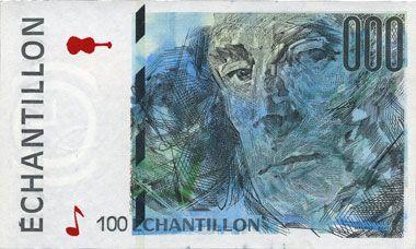 Banknotes Billet de test pour distributeurs de billets, échantillon, série 100