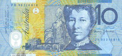 Banknotes Australie. Banque centrale. Billet. 10 dollars (1993-1994)