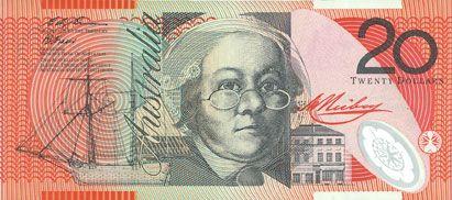 Banknotes Australie. Banque centrale. Billet. 20 dollars (1994-1996)