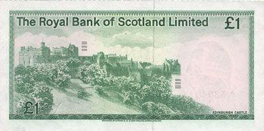 Banknotes Ecosse. Banque Royale d'Ecosse. Billet. 1 livre 10.1.1981