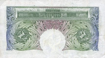 Banknotes Grande Bretagne. Billet. 1 livre (1949-1955)